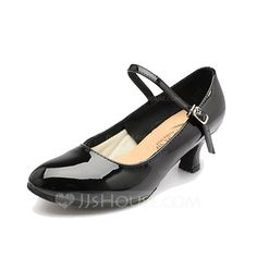 Women's Patent Leather Heels Pumps Modern With Buckle Dance Shoes (053058454)