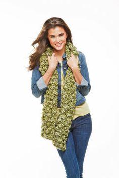 Popcorn Crochet Scarf really easy scarf to do! -Carla