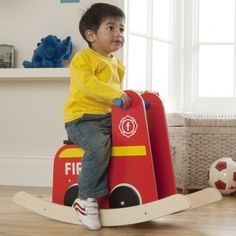 Fire Engine Rocker - available direct from KidsPlayKit with Free Next Day Delivery! Come take a look at our wide range of UK made wooden toys!