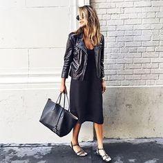Deja que tu bolso sea el protagonista de tu look:   24 Maneras de usar tu chamarra de cuero con estilo