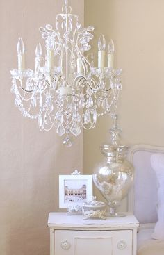 Antique White Chandelier with Pink Rose Shades Ivory Crystal Nursery Chandelier at Jack and Jill Boutique. Ivory Crystal Nursery Chandelier at Jack and Jill Boutique. Small Chandelier Bedroom, Nursery Chandelier, White Chandelier, Bedroom Lighting, Chandelier Lighting, Crystal Chandeliers, Antique Chandelier, Small Chandeliers For Bedroom, Chandelier For Girls Room