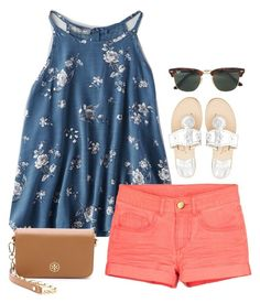 featuring American Eagle Outfitters, Jack Rogers, Tory Burch and Ray-Ban
