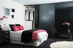 Image result for black and pink room