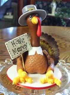 Have Mercy Thanksgiving Turkey Cake