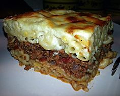 """Pastitsio (Greek Pasta Bake)! """"Love it! I do prefer a bit more cinnamon but I tone it down for others - def taste & adjust seasoning to your tastes :-)"""" @allthecooks #recipe"""