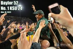 I love this photo. // #Baylor upsets No. 1-ranked KSU, 52-24. Nov. 18, 2012