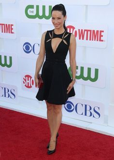 LOVE THIS DRESS! Lucy Liu at CBS Showtime's CW Summer 2012 Press Tour in Beverly Hills