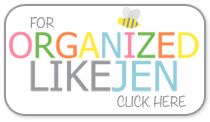 Woo Hoo!  Organized Jen has a new blog OrganizedJen.com. She is my favorite YouTuber & has wonderful organizational skills. She is a charming, sweet & lovely lady that is a pure joy to watch on all her YouTube channels.