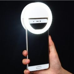 Clip on Selfie O Ring Light for Smart Phone in the Color White Perfect Selfie Accessory