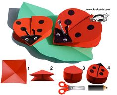 Paper LADYBIRDS kids craft