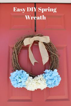 Easy Spring wreath you can do yourself.