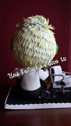 Y este es el pelo de un profesional de los pelos, el señor Maxi...fofucha personalizada al cien por cien...