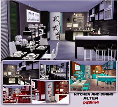 Kitchen and dining Altea by Mary Jiménez at via Sims 4 Updates Sims 4 Cc Furniture, Pet Furniture, Sims 4 Kitchen, Pelo Sims, Sims 4 Update, Sims 4 Cc Finds, Sims 4 Custom Content, Sims Cc, Room Set