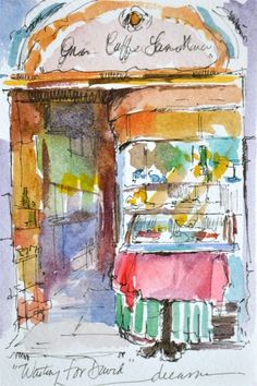 Dreama Tolle Perry » Artist and Writer » Taking the Plunge in a Journal with Watercolor!