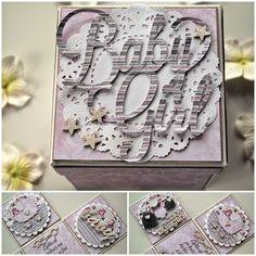 """Kristine Henanger har laget denne flotte gaveboksen med ark fra """"lille mirakel""""."""