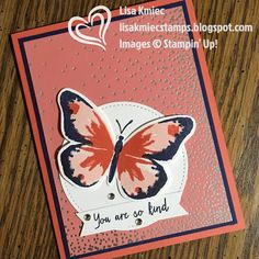 Stampin' with Lisa: Stamp 'n Hop Blog Hop: Annual Catalog Favorite Stampin' Up! Watercolor Wings Sweet Soiree DSP
