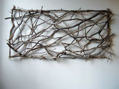 twigs in openwork square -