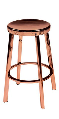 Accent stool in copper frame finish