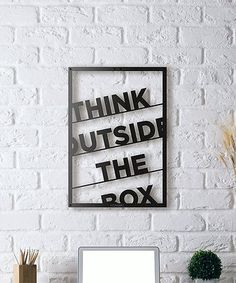 Look what I found on #zulily! 'Think Outside the Box' Metal Wall Décor #zulilyfinds