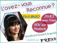 FrexOnautes, rendez-vous vite sur http://www.facebook.com/frexo.fr pour GAGNER le Headband Tresse Argenté de la People !