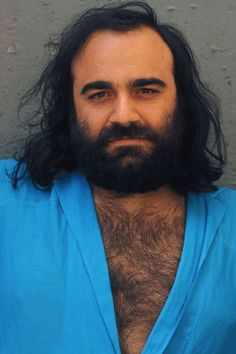 Portrait of Greek singer Demis Roussos on June 1975 in Jerusalem, Israel. Goodbye My Love, Bcbg, Greek Music, Celebrity Stars, Rock Artists, Progressive Rock, Portraits, Famous Men, Sunset Photography