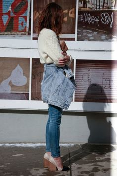 Winter ~ jeans ~ White