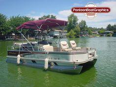 Custom PontoonBoat Striping Mvinyl Graphics And Decals Check - Custom pontoon decals