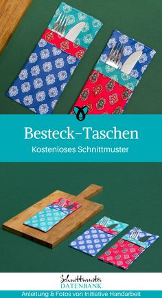 Besteck-Taschen Cutlery Pouches for cutlery Pouches Free Instructions Freebie Elegant Gift Idea Trifle Sewing Sewing Idea Sewing Patterns Free, Free Sewing, Free Pattern, Half Double Crochet, Single Crochet, Crochet Blanket Patterns, Crochet Stitches, Beautiful Crochet, Free Crochet