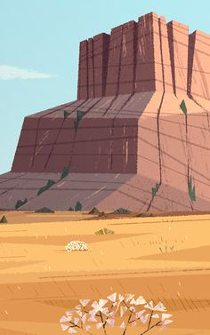 Prairie by Benjamin Flouw, via Behance Cartoon Background, Animation Background, Art Background, Layout Design, Bg Design, Environment Concept Art, Environment Design, Graphic Illustration, Graphic Art