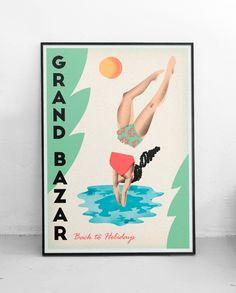 Plakat Grand Bazar Back to Holidays A2, Iza Kaczmarek-Szurek