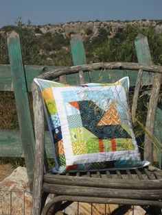 Bird on My Pillow! Patchwork Pillow ~ Nero's Post and Patch
