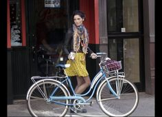 Ashley Greene on the streets of NYC, making this adorable bike an accessory