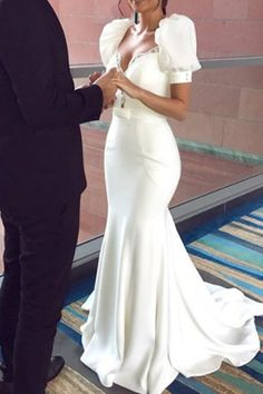 Beading Puff Sleeve Mermaid Wedding Dress 2019 We carry a wide array of the hottest styles of tops, bottoms, dresses, jewelry, and accessories. Modern Filipiniana Gown, Filipiniana Wedding Theme, Event Dresses, Occasion Dresses, Wedding Dress Sleeves, Dresses With Sleeves, Bridal Gowns, Wedding Gowns, Wedding Updo