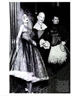 Haute Clown Couture: Natasha Poly Heads to the Circus for Vogue Paris April 2012
