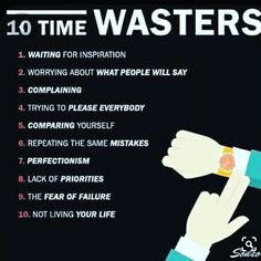 . Time Wasters, Live Your Life, Priorities, No Worries, Leadership, Wisdom, Inspirational, Sayings, Twitter