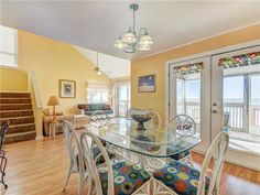 The Great Escape #B! This duplex features 3 beds, 2.5 baths, and sleeps 9. Only a mile from many restaurants, plus you get one free bike rental per day! Beachfront views with direct access from the screened in porch.