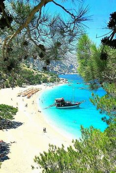 Kapathos island,Greece- You could go to the same beach as everyone else OR you c. Most Beautiful Beaches, Beautiful Places To Visit, Dream Vacations, Vacation Spots, Places To Travel, Places To See, Greece Islands, Greece Travel, Places Around The World