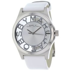This classic timepiece by Marc Jacobs features a stainless steel case and strap. A white dial, precise quartz movement and a water-resistance level of up to 50 meters finish this fine timepiece. ♡ I want this watch