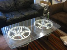 Wheel Rim Coffee Table