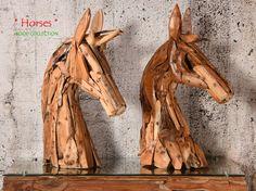 HORSES Edler Teak-Wurzelholz Pferdekopf - Ein Kunstwerk aus Wurzelholz | WOOD…