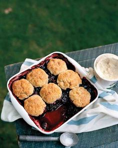 Best Berry Cobbler made with biscuits