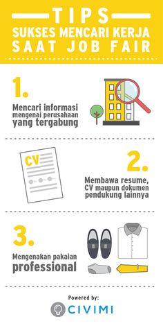 3 Tips Sukses Mencari Kerja Saat Job Fair (Infographic)