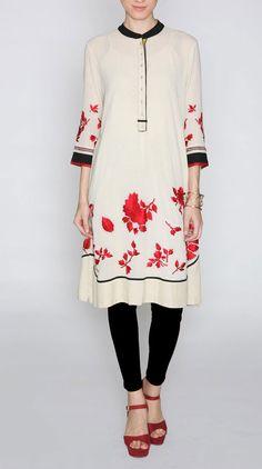 If you love to wear tights as churidars wear long kurtas. Never pair short kurtas with lycra leggings.