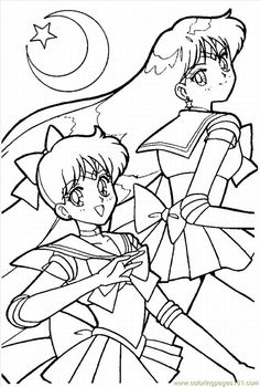 coloring pages sailor moon05 cartoons sailor moon free - Colouring Pages Cartoon Characters
