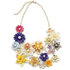 jcpenney bongo costume jewelry pics | Mixit® Fashion Jewelry, Multi Flower Necklace - jcpenney