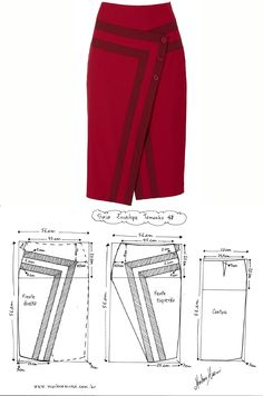 Best 12 Spring Summer Autumn Fashion Work Skirts Women's Solid Color Slim Hip Middle Waist Straight Skirt For Girls – SkillOfKing. Skirt Patterns Sewing, Clothing Patterns, Fashion Sewing, Diy Fashion, Sewing Clothes, Diy Clothes, Costura Fashion, Blouse Dress, Dressmaking