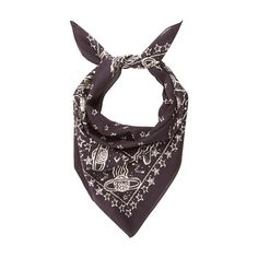 Valentino Galaxy-print cotton scarf (€145) ❤ liked on Polyvore featuring men's fashion, men's accessories, men's scarves and navy multi