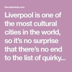 Liverpool is one of the most cultural cities in the world, so it's no surprise that there's no end to the list of quirky and unusual things to do in t The Magical Mystery Tour, Crosby Beach, Stuff To Do, Things To Do, Ghost Walk, On A Clear Day, Travel Music, Ghost Tour, Heritage Center