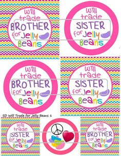 DIY Printable Will Trade for Jelly Beans 1 Shrinkable by MaddieZee, $1.25