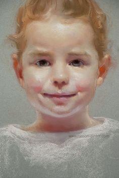 Custom child portrait Original painting by ramongutierrezart, €350.00
